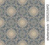 seamless wallpaper pattern in... | Shutterstock .eps vector #1035215692