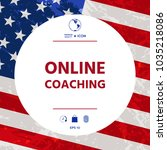 online coaching icon | Shutterstock .eps vector #1035218086