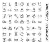 online shopping flat icon set....   Shutterstock .eps vector #1035224005