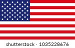 american flag for independence... | Shutterstock .eps vector #1035228676