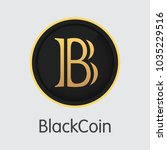 blackcoin vector trading sign... | Shutterstock .eps vector #1035229516