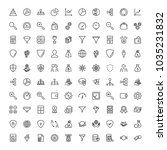 trade flat icon set. single... | Shutterstock .eps vector #1035231832