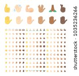 all type of hand emojis ... | Shutterstock .eps vector #1035236266
