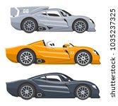 sport race car vector speed... | Shutterstock .eps vector #1035237325
