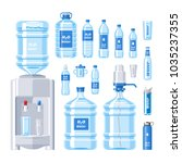 water bottle vector water drink ... | Shutterstock .eps vector #1035237355