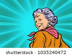 gray haired grandmother a good... | Shutterstock .eps vector #1035240472