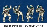 disco party astronauts dancing...