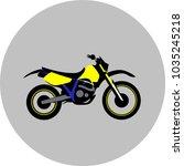 motorcycle offroad sport   Shutterstock .eps vector #1035245218