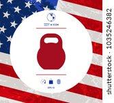 kettlebell icon symbol | Shutterstock .eps vector #1035246382