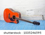 musical instrument   orange... | Shutterstock . vector #1035246595