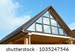 modern house attic construction ... | Shutterstock . vector #1035247546