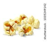 tasty popcorn. elements for... | Shutterstock .eps vector #1035249142