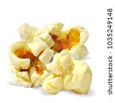 tasty popcorn. elements for... | Shutterstock .eps vector #1035249148