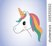unicorn isolated on background. ... | Shutterstock .eps vector #1035252022