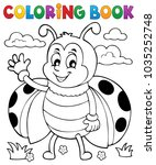 coloring book ladybug theme 5   ... | Shutterstock .eps vector #1035252748