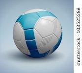 blue soccer ball. vector... | Shutterstock .eps vector #103525286