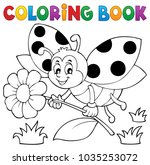 coloring book ladybug theme 4   ... | Shutterstock .eps vector #1035253072