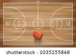 basketball ball on basketball... | Shutterstock .eps vector #1035255868