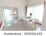 setting dining table | Shutterstock . vector #1035261142