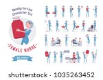 female nurse ready to use... | Shutterstock .eps vector #1035263452