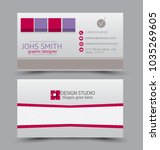business card set template for... | Shutterstock .eps vector #1035269605