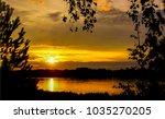 sunset river landscape. river... | Shutterstock . vector #1035270205