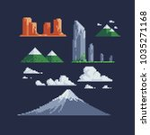 nature landscape pixel art...   Shutterstock .eps vector #1035271168