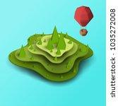 3d vector paper cut green... | Shutterstock .eps vector #1035272008