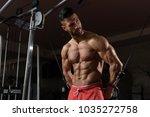 handsome muscular fitness...   Shutterstock . vector #1035272758