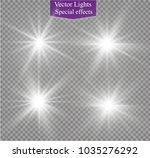 white sparks glitter special... | Shutterstock .eps vector #1035276292