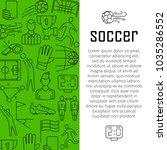 soccer vector banner design... | Shutterstock .eps vector #1035286552