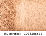 face powder. smears of... | Shutterstock . vector #1035286636