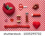 Red Sewing Kit Accessories And...