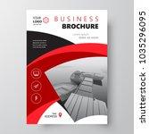 simple flyer brochure design... | Shutterstock .eps vector #1035296095