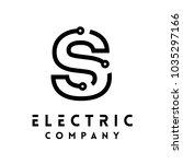 technology vector logotype... | Shutterstock .eps vector #1035297166