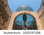 figueres  spain july 17  2017 ... | Shutterstock . vector #1035297208