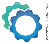 halftone vector gears icon... | Shutterstock .eps vector #1035302422