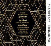 wedding invitation card with... | Shutterstock .eps vector #1035307942