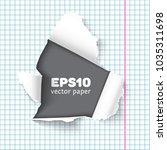hole in sheet of looseleaf...   Shutterstock .eps vector #1035311698