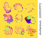 abstract vector background dot... | Shutterstock .eps vector #1035319972