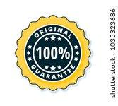 100  original guarantee label...   Shutterstock .eps vector #1035323686