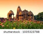 devi jagdamba temple  sunset at ... | Shutterstock . vector #1035323788