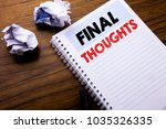 writing text showing final... | Shutterstock . vector #1035326335