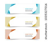 modern label banner sticker set ... | Shutterstock .eps vector #1035327016