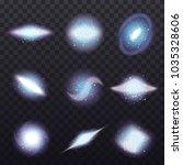 galaxy spiral realistic set...   Shutterstock .eps vector #1035328606