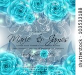 wedding card or invitation with ... | Shutterstock .eps vector #103533188