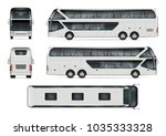 Bus Vector Mock Up. Isolated...