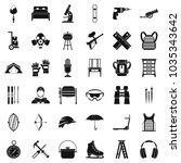 additional equipment icons set. ...   Shutterstock .eps vector #1035343642