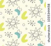 mid century modern seamless... | Shutterstock .eps vector #1035344458