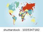 world map vector. | Shutterstock .eps vector #1035347182